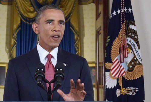 Kampfansage gegen den Islamischen Staat: US-Präsident Barack Obama gab bekannt, die Luftangriffe auf Syrien auszuweiten.  FOTO: EPA