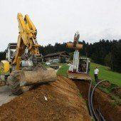 Neue Leitungen in Eichenberg verlegt