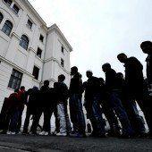 Asylwerber werden im Turnsaal untergebracht