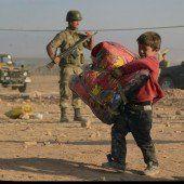 Kurden flüchten vor IS