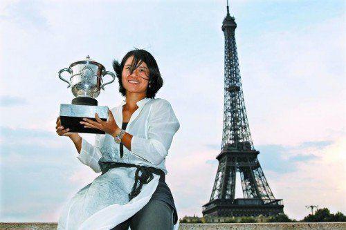 Li Na feierte mit dem Sieg beim Grand-Slam-Turnier in Paris ihren größten Karriereerfolg. Foto: ap