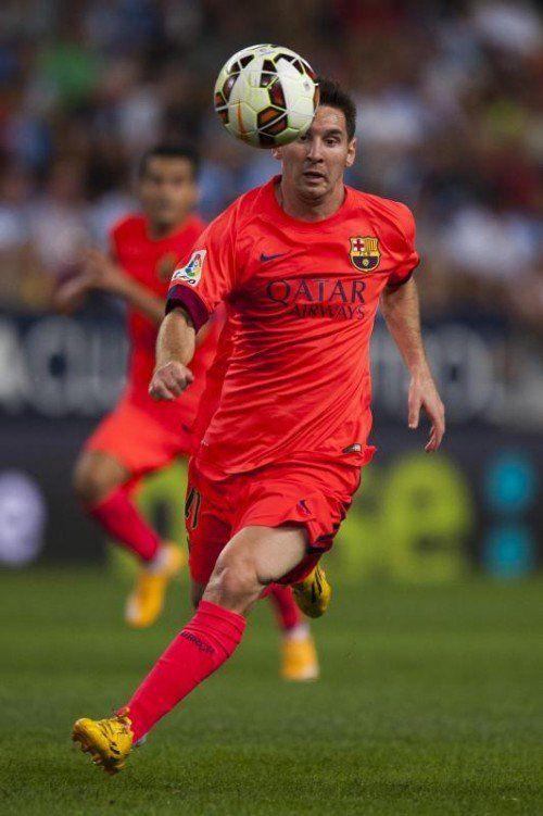 Lionel Messi soll einen Gegenspieler beschimpft haben. Foto: ap