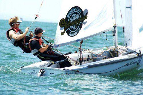 Lukas Mähr (l.) und David Bargehr befinden sich in Adu Dhabi auf Kurs Richtung Finale. Foto: steurer
