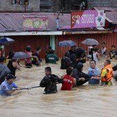 Überflutungen in Manila
