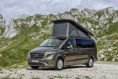 Marco Polo: Camper von Mercedes auf Basis der V-Klasse. Foto: werk