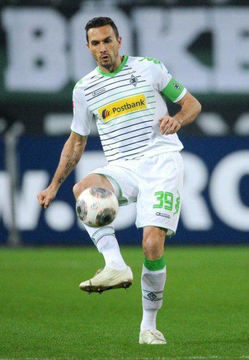 Martin Stranzl bot als Kapitän von Gladbach eine gute Leistung. gepa