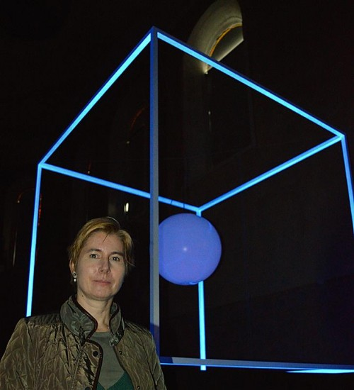 Miriam Prantl mit einer Arbeit, die sie in Feldkirch realisierte.