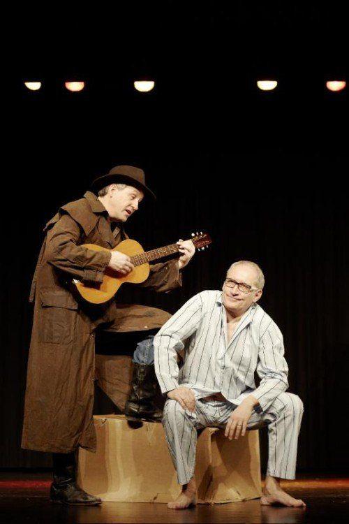 """Mit """"Männerabend"""" hat sich das Ensemble """"Theatermobil"""" in Vorarlberg bekannt gemacht.  Foto: VN"""