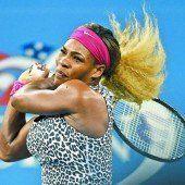 Serena Williams gab wegen einer Erkrankung auf
