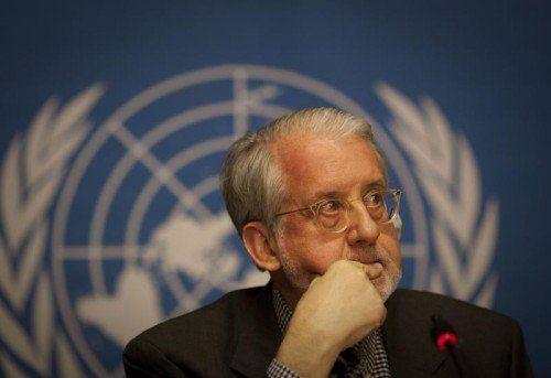 Paulo Sergio Pinheiro kritisiert den UN-Sicherheitsrat.  AP