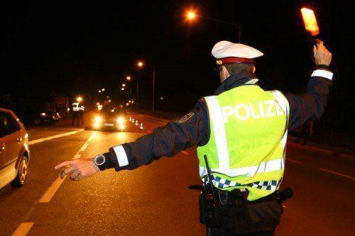Zwei alkoholisierte Fahrzeuglenker wurden bei der Kontrolle in der Nacht auf Sonntag aus dem Verkehr gezogen. Vn/HB