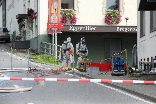 Rund um die Brauerei wurde eine Absperrung errichtet.