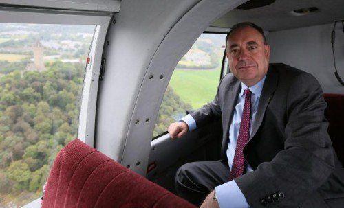 Schottlands Regierungschef Alex Salmond fordert seine Landsleute auf, für die Unabhängigkeit zu voten.  FOTO: REUTERS