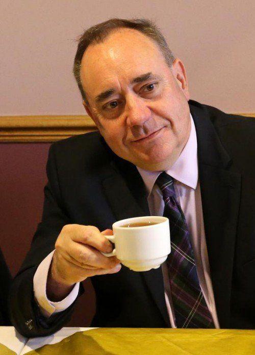 Schottlands Regierungschef Alex Salmond ist zuversichtlich.  AP