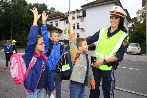 Schulwegsicherung mit Polizei;