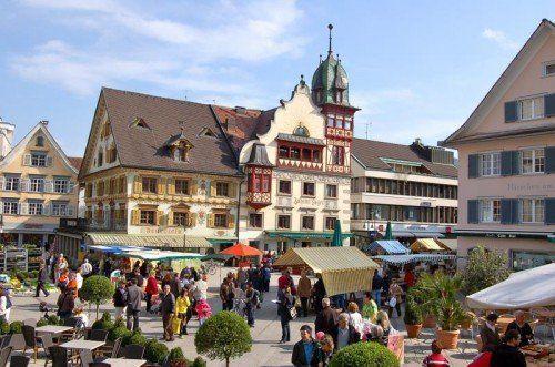 Tatort der Wiederbetätigung: Der Marktplatz in Dornbirn.  Stadt