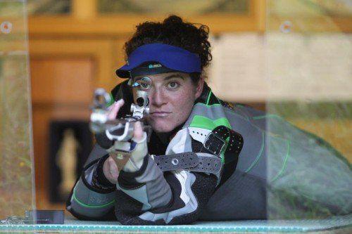 Sonja Ladner wurde WM-Neunte im Team bzw. belegte im Einzel den  29. Rang im KK-Liegendbewerb. Foto: hartinger