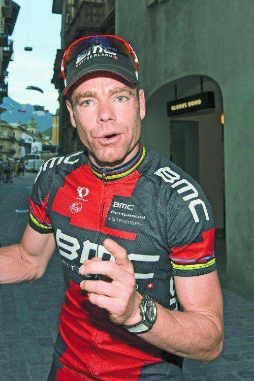 Steigt im Jänner vom Rad: Cadel Evans. Foto: apa