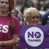 Ja oder Nein? Um die Unabhängigkeit Schottlands ist ein Kopf-an-Kopf-Rennen entbrannt
