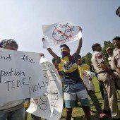Exil-Tibeter demonstrieren in Delhi gegen Chinas Besetzung ihres Herkunftslandes