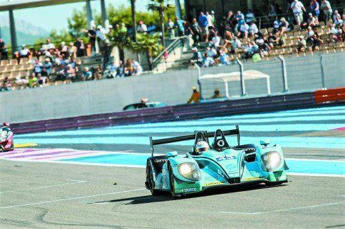 Toller Moment für Christian Klien: Als Morand-Schlussfahrer querte er in Paul Ricard als Sieger die Ziellinie Foto: elms