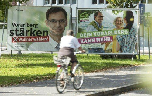 Unübersehbar: In Vorarlberg herrscht Wahlkampf.