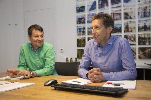 Verkaufsleiter Wolfgang Lang und GF Jeannot Fink.  Foto: VN