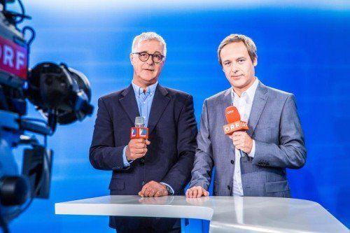 Werden die Wahldiskussion in Vandans moderieren: die Redakteure von VN und ORF, Tony Walser (l.) und Daniel Rein.  Foto: MK