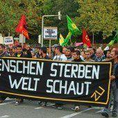 Kurden-Demo: Polizei verhaftet fünf Personen