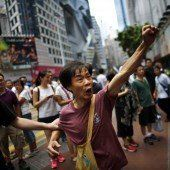 Hongkong-Proteste stören Nationalfeiertag