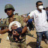 Die Lage in der eingeschlossenen Stadt Kobane spitzt sich dramatisch zu