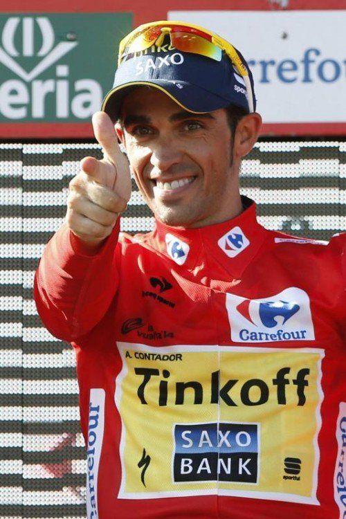 Alberto Contador holte sich vor wenigen Wochen zum dritten Mal den Gesamtsieg bei der Vuelta. Foto: epa