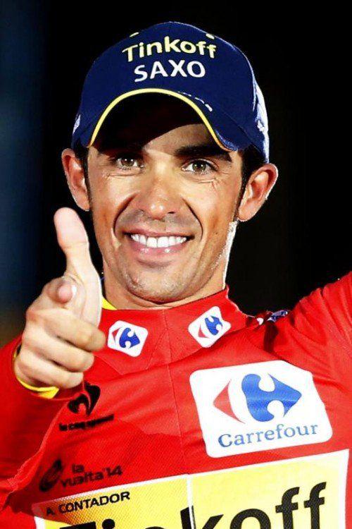 Alberto Contador wird 2015 zumindest Tour und Giro bestreiten. epa