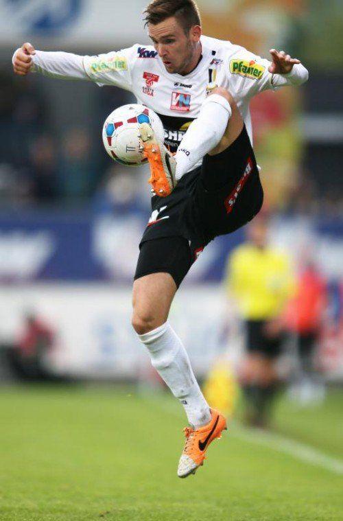 Altachs Emanuel Schreiner hat sich im linken Mittelfeld einen Platz erobert. Gegen Austria Wien erzielte er sein erstes Bundesliga-Tor. gepa