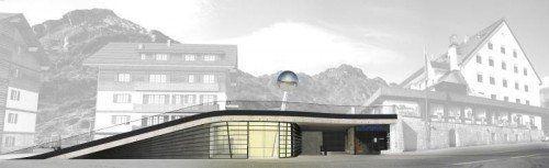 Am Arlberg entsteht eine Ausstellungs- und Konzerthalle.