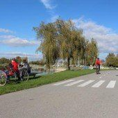 Fahrradverbot an der Harder Seepromenade?