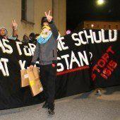 Polizei-Großaufgebot bei Kurden-Demo in Bregenz