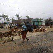 Zyklon Hudhud fegte über Indien