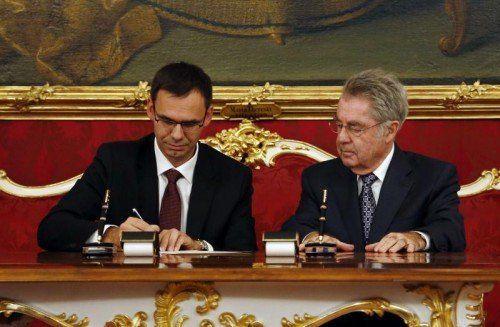 Angelobung von Landeshauptmann Markus Wallner durch Bundespräsident Heinz Fischer in der Wiener Hofburg.  Foto: Dragan Tatic
