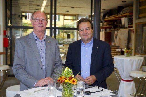 Bau-Innungsmeister Franz Drexel und GF Thomas Peter.