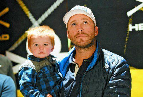 Bode Miller kam mit Sohn Nathaniel nach Sölden. Foto: gepa