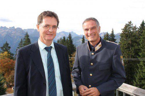Cobra-Chef Harald Gonner (li.) mit dem Veranstaltungsorganisator Mario Leiter.  Foto: Andreas Seeburger/Muttersberg Marketing