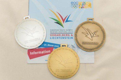 Das Medaillenset der EYOF-Spiele. VN-Stiplovsek
