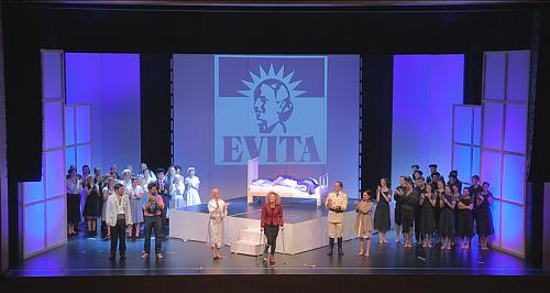 """Das Musical """"Evita"""" wird noch am 18. und 19. Oktober in der Bühne AMBACH in Götzis aufgeführt.  Foto: MTV"""
