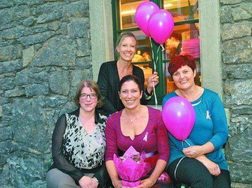 Das Team der Vorarlberger Krebshilfe mit GF Lucia Wieländner, Maria Marte, Beratungsstellenleiterin Simone Bösch und Herta Mangeng (v. l.).
