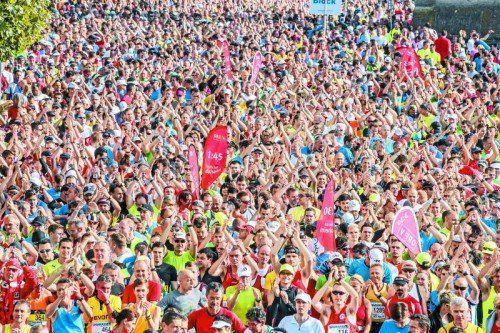 Der Marathon der drei Länder am Bodensee punktet mit einer besonderen Kulisse. Am Start in Lindau rockten die Monroes und brachten die Läufermassen zum Kochen.