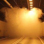 Sprühnebelanlage im Bregenzer Citytunnel
