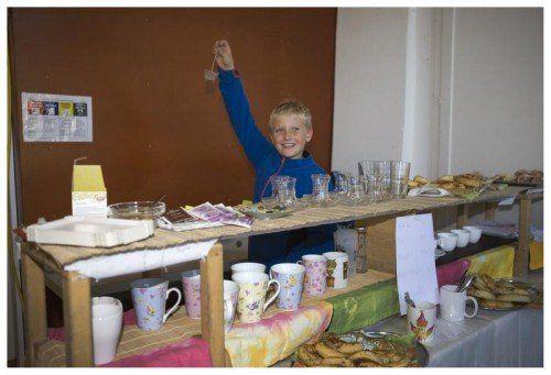 Die Kinder der Montessori Schule Altach betreiben am Erlebnismarkt einen egenen Stand.