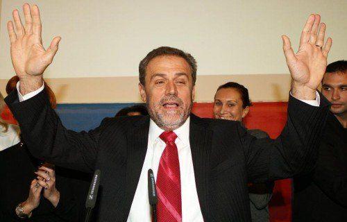 Durch die Festnahme wegen Korruptionsverdacht ist die Politkarriere des Zagreber Bürgermeisters Milan Bandic wohl beendet.  FOTO: EPA