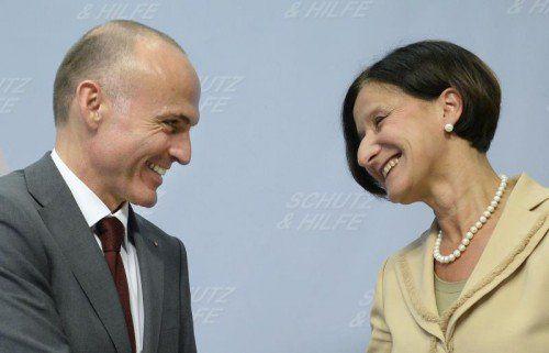 Einigung auf Reformkonzept fehlt noch: Verteidigungsminister Gerald Klug und Innenministerin Johanna Mikl-Leitner. FOTO: APA
